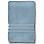 Bath Towel, Spa Blue Cotton, 27 x 54-In., Must Purchase in Quantities of 4