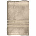 Bath Towel, Tan Cotton, 27 x 54-In., Must Purchase in Quantities of 4