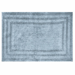 Bath Rug, Spa Blue Cotton, 21 x 32-In., Must Purchase in Quantities of 4