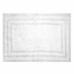 Bath Rug, White Cotton, 21 x 32-In., Must Purchase in Quantities of 4