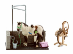 Toy Animal Figure, Horse Wash Area Set