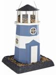 Blue/White Nautical Lighthouse Bird Feeder