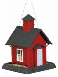 Red School House Bird Feeder