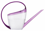 Watering Can, Loop Handle, Transparent/Violet Plastic, 47-oz.