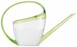 Watering Can, Loop Handle, Transparent/Green Plastic, 47-oz.