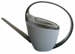 Watering Can, Loop Handle, Gray Plastic, 47-oz.