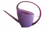 Watering Can, Loop Handle, Violet Plastic, 47-oz.