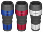 Travel Beverage Tumbler, Stainless Steel, Assorted, 16-oz.
