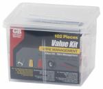 Wire Management Value Kit, 102-Pc.