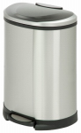 Step Trash Can, Stainless Steel, Semi Oval, 13.2-Gal.
