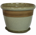"""12"""" WHT Etch Planter, Must Purchase in Quantities of 4"""