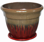 "12"" RED Bell Planter, Must Purchase in Quantities of 4"