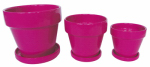"7.5"" PINK STD Pot, Must Purchase in Quantities of 4"