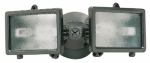 Twin Halogen Flood Light, 150-Watt, Bronze