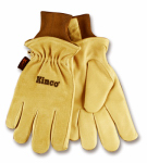 Men's Thermal-Lined Pigskin Suede Leather Gloves, XL