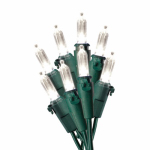 Christmas LED Light Set, Mini, Warm White/Green Wire, 100-Ct.