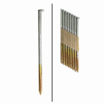 Framing Nails, Paper Tape, Ringed Shank, Hot-Dipped Galvanized, 3-In. x .120, 2,000-Ct.