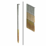 Framing Nails, Paper Tape, Ring Shank, Hot-Dipped Galvanized, 2-3/8-In. x .113, 5,000-Ct.