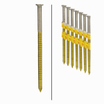 Framing Nails, Plastic Strip, Ring Shank, Hot-Dipped Galvanized, 3-In. x .120, 4,000-Ct.
