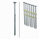 Framing Nails, Plastic Strip, Ring Shank, Hot-Dipped Galvanized, 3.25-In. x .120, 4,000-Ct.
