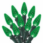 Christmas LED Light Set, C6, Green, 70-Ct.