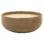 Ceramic Triple-Wick Citronella Candle, Warm Gray