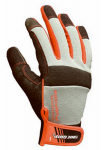 Winter Gloves, Gray/Red/Black, Men's' Large
