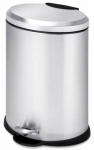 Step Trash Can, Stainless Steel, Oval, 3.2-Gal.