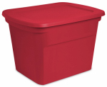Storage Container, Red, 18-Gal., Must Purchase in Quantities of 8