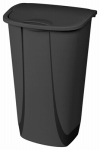 Kitchen Wastebasket, Swing Top, Black, 11-Gal., Must Purchase in Quantities of 6