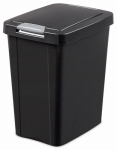 Kitchen Wastebasket, Touch Top, Black, 7.5-Gal., Must Purchase in Quantities of 4