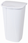 Kitchen Wastebasket, Swing Top, White, 11-Gal., Must Purchase in Quantities of 6