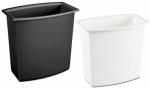 Vanity Wastebasket, 2-Gal., White or Black, Must Purchase in Quantities of 12