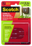 Scotch Sign Mounting Strips, 1 x 3-In.