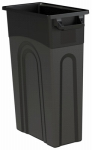Slim Line Waste Container, High Boy, Black, 23-Gal.
