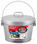 Galvanized Steel Can With Locking Lid, 4-Gal.