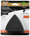 Hook & Loop Sandpaper, Assorted, 3-In., 12-Pk.