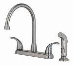 High-Arc Kitchen Faucet With Spray, Brushed Nickel