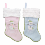 Baby's First Christmas Stocking, Plush, Assorted, 16-In.