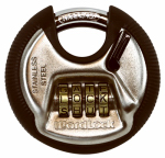 Combination Discus Lock With 4 Dials, Resettable