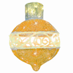 LED Christmas Ornament Lawn Decoration, Gold, 16-In.