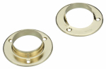 Pole Socket Set, Brass, 2-Pk., Must Purchase in Quantities of 25