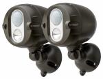 Net Bright  Wireless LED Spotlight, Motion Sensing, Brown, 200-Lumens, 2-Pk.