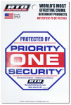 Home Security Window Decal - Priority One Home Security, Must Purchase in Quantities of 12