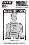 Home Security Window Decal - Nothing Inside Is Worth Dying For, Must Purchase in Quantities of 12