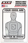 Home Security Window Decal - Your Odds Are Better in Vegas, Must Purchase in Quantities of 12