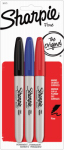 Permanent Markers, Fine Point, 3-Pk.