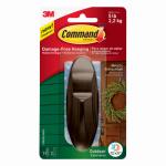 Command Outdoor Hook, Bronze Metallic, Large