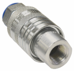 Hydraulic Coupler with Poppet Valve, 3000 PSI, 3/8-In.