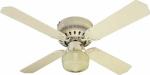 Ceiling Fan, White, 42-In.